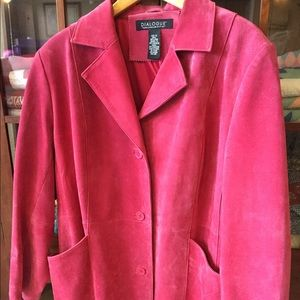 Dialogue Red Suede Jacket